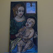 Картины и панно handmade. Livemaster - original item The MADONNA and child oil on cardboard,handmade. Handmade.