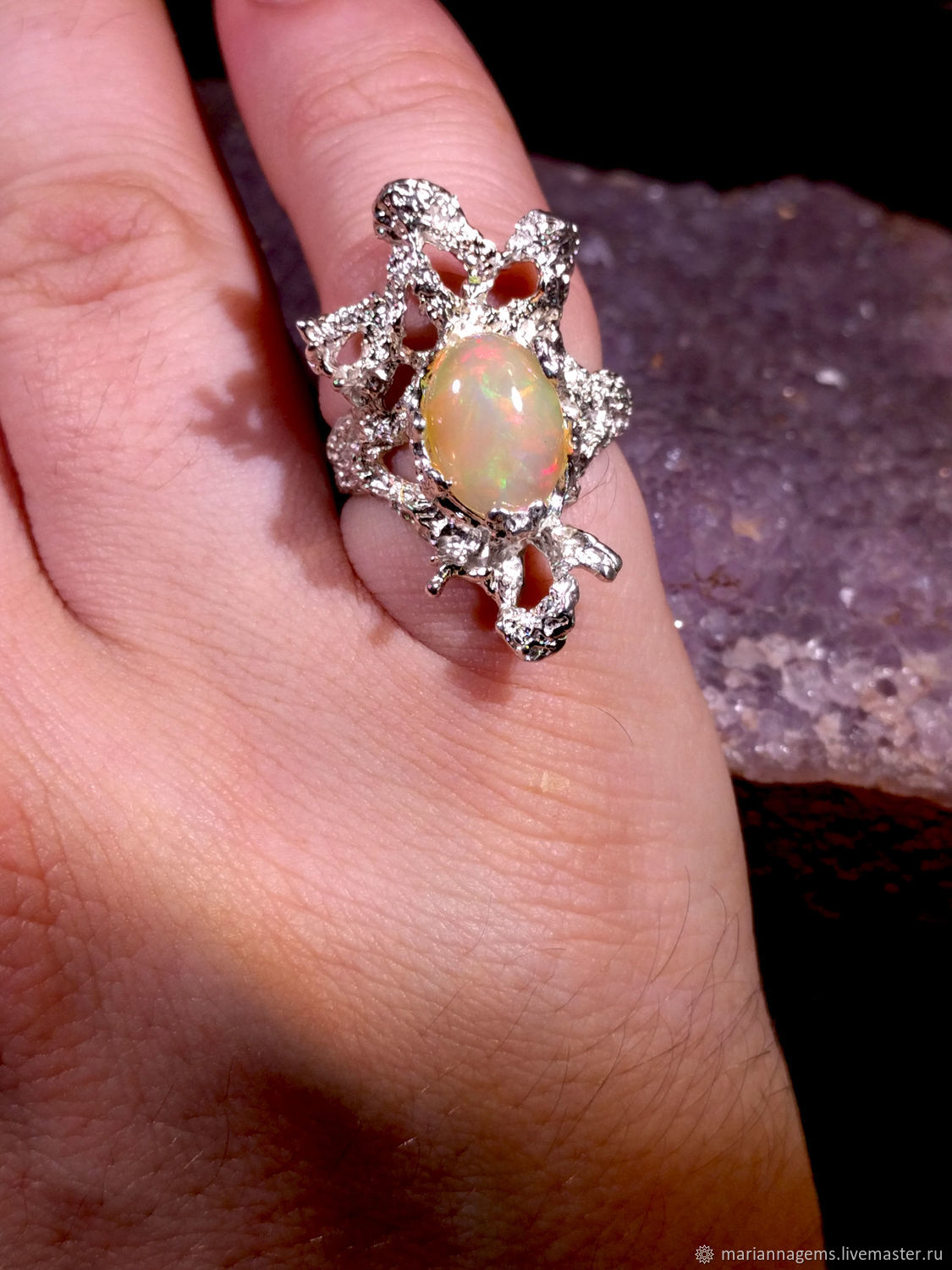 Copy of Copy of opal ring – shop online on Livemaster with shipping ...