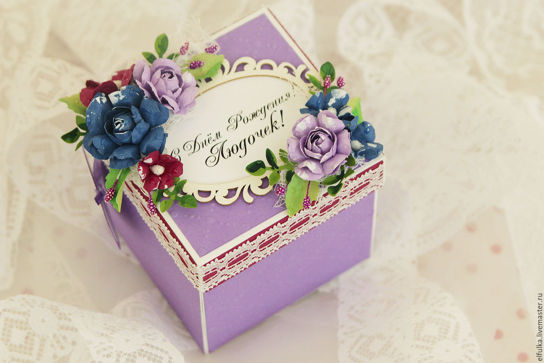 Как сделать подарочную коробку Подарок своими руками 53