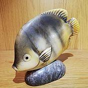 Статуэтки ручной работы. Ярмарка Мастеров - ручная работа Рыбка. Handmade.