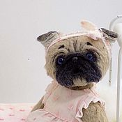 Куклы и игрушки handmade. Livemaster - original item Anna-rose Pug dog pug Teddy. Handmade.