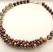Украшения handmade. Livemaster - original item Necklace SCARLET AUTUMN Jasper and Topaz. Handmade.