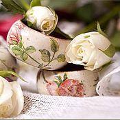 """Для дома и интерьера ручной работы. Ярмарка Мастеров - ручная работа Кольца для салфеток """"Розы"""". Handmade."""