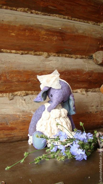 """Мишки Тедди ручной работы. Ярмарка Мастеров - ручная работа. Купить Слоник """"  Лаванда""""!. Handmade. Сиреневый, мишка девочка"""