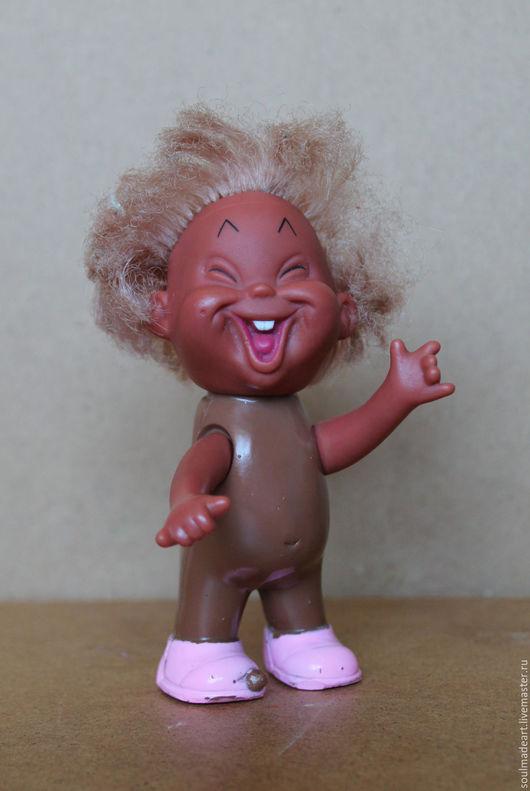 Винтажные куклы и игрушки. Ярмарка Мастеров - ручная работа. Купить Чудик ГДР с номером, 13 см.. Handmade. Комбинированный, резина