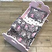 Мебель для кукол ручной работы. Ярмарка Мастеров - ручная работа Кроватка для куклы. Handmade.