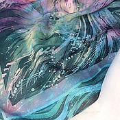 """Платки ручной работы. Ярмарка Мастеров - ручная работа Платок шелковый """"Интуит"""". Handmade."""