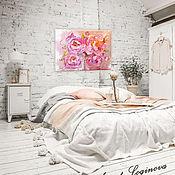 Картины и панно ручной работы. Ярмарка Мастеров - ручная работа Картина пионы - Утро в пурпурном. Handmade.
