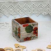 Для дома и интерьера handmade. Livemaster - original item Box of nasturtium decoupage. Handmade.