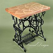 Для дома и интерьера ручной работы. Ярмарка Мастеров - ручная работа Столик с росписью на станине от швейной машинки. Handmade.