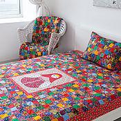 Русский стиль handmade. Livemaster - original item Matryoshka patchwork bedspread. Handmade.