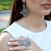 Украшения handmade. Livemaster - original item Bohemian jewelry set made of silver HH0023. Handmade.
