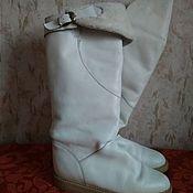 Винтажная обувь ручной работы. Ярмарка Мастеров - ручная работа Подарок к заказу Сапоги из натуральной кожи, дефект, 41 размер. Handmade.