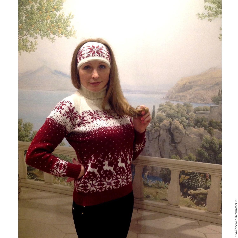 Купить свитер женский с оленями с доставкой