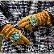 """Аксессуары ручной работы. Ярмарка Мастеров - ручная работа Укороченные  перчатки с кружевом """"Mustard"""". Handmade."""