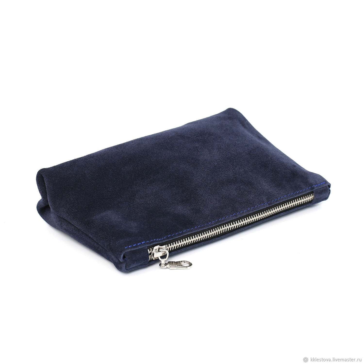 Wallets & Business Card Holders handmade. Livemaster - handmade. Buy Blue suede wallet Pocket Cosmetic bag Case organizer Clutch bag.