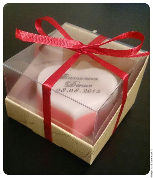 Подарочные наборы ручной работы. Ярмарка Мастеров - ручная работа. Купить Свадебное мыло. Handmade. Ярко-красный, мыло сувенирное