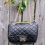 Сумки и аксессуары handmade. Livemaster - original item Black women`s bag made of genuine leather based on Chanel Chanel. Handmade.