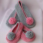 """Обувь ручной работы. Ярмарка Мастеров - ручная работа Мягкие тапоточки """"Для мамы и дочки"""". Handmade."""