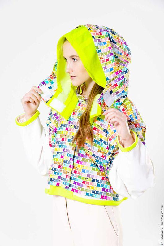 Верхняя одежда ручной работы. Ярмарка Мастеров - ручная работа. Купить Дизайнерская куртка - трансформер. Handmade. Комбинированный, тренды и стили