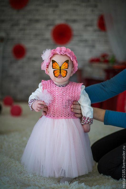 """Одежда для девочек, ручной работы. Ярмарка Мастеров - ручная работа. Купить Платье """"Розовая мечта"""". Handmade. Розовый, платье для девочки"""