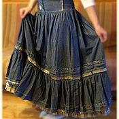 Одежда ручной работы. Ярмарка Мастеров - ручная работа Джинсовая юбка. Handmade.