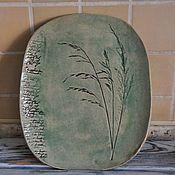 Посуда ручной работы. Ярмарка Мастеров - ручная работа Тарелка овальная. Handmade.