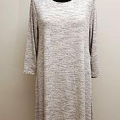 Одежда винтажная ручной работы. Ярмарка Мастеров - ручная работа XL Lila Rose Свободное платье туника вискоза. Handmade.