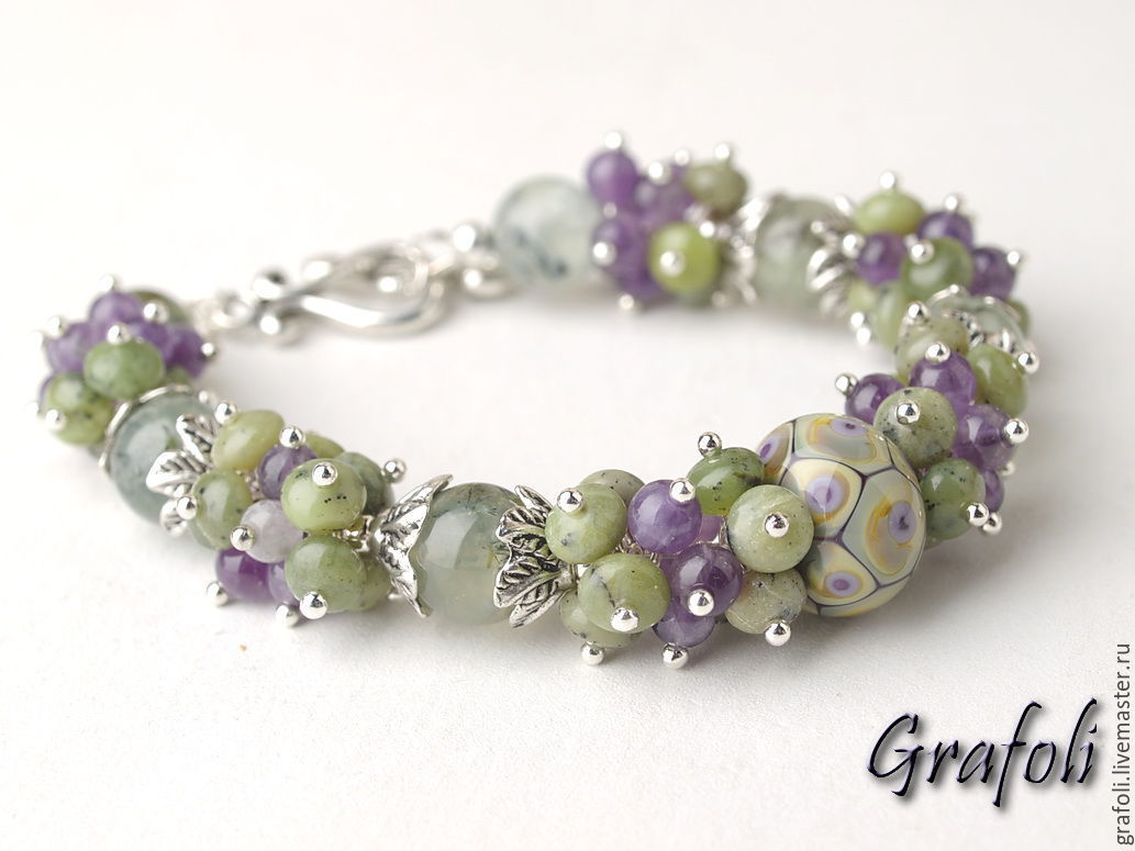 Bracelet made of natural stones Watercolor, Bead bracelet, Moscow,  Фото №1