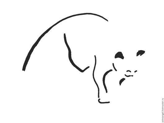 """Репродукции ручной работы. Ярмарка Мастеров - ручная работа. Купить """"kellas campbel"""". Handmade. Кот, подарок на любой случай, минимализм"""