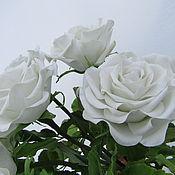 Цветы и флористика ручной работы. Ярмарка Мастеров - ручная работа Семь белых роз. Handmade.