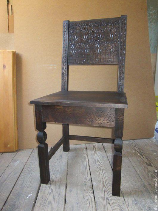 Мебель ручной работы. Ярмарка Мастеров - ручная работа. Купить Резной стул из березы. Handmade. Коричневый, мебель ручной работы