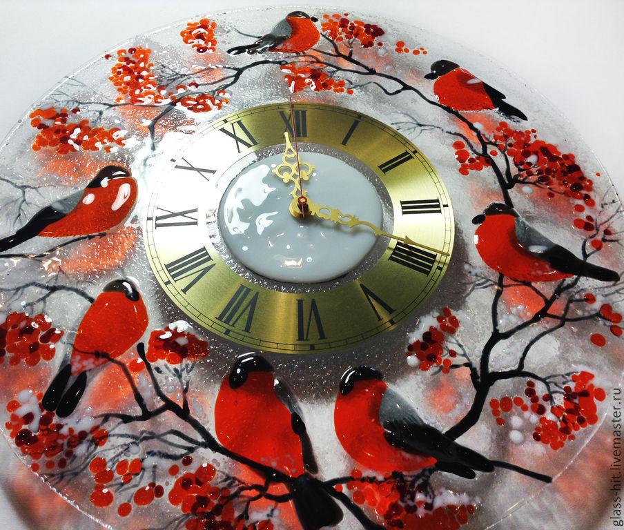 Картинка на стекле и часы