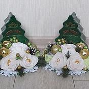 Подарки к праздникам ручной работы. Ярмарка Мастеров - ручная работа Чайная елочка новогодняя зеленая. Handmade.