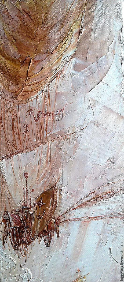 """Город ручной работы. Ярмарка Мастеров - ручная работа. Купить """"Мечта"""". Handmade. Коричневый, тучи, картина в офис, картина для интерьера"""
