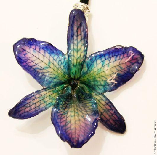 Кулоны, подвески ручной работы. Ярмарка Мастеров - ручная работа. Купить Кулон из настоящего цветка орхидеи в эмали. Handmade. Орхидея