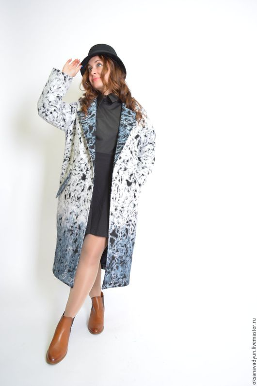 Верхняя одежда ручной работы. Ярмарка Мастеров - ручная работа. Купить Пальто демисезонное Warm air. Handmade. Комбинированный, кашемир