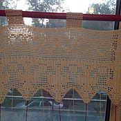 Для дома и интерьера ручной работы. Ярмарка Мастеров - ручная работа Кухонная штора. Handmade.