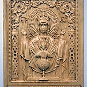 Резная икона из дерева Неупиваемая чаша