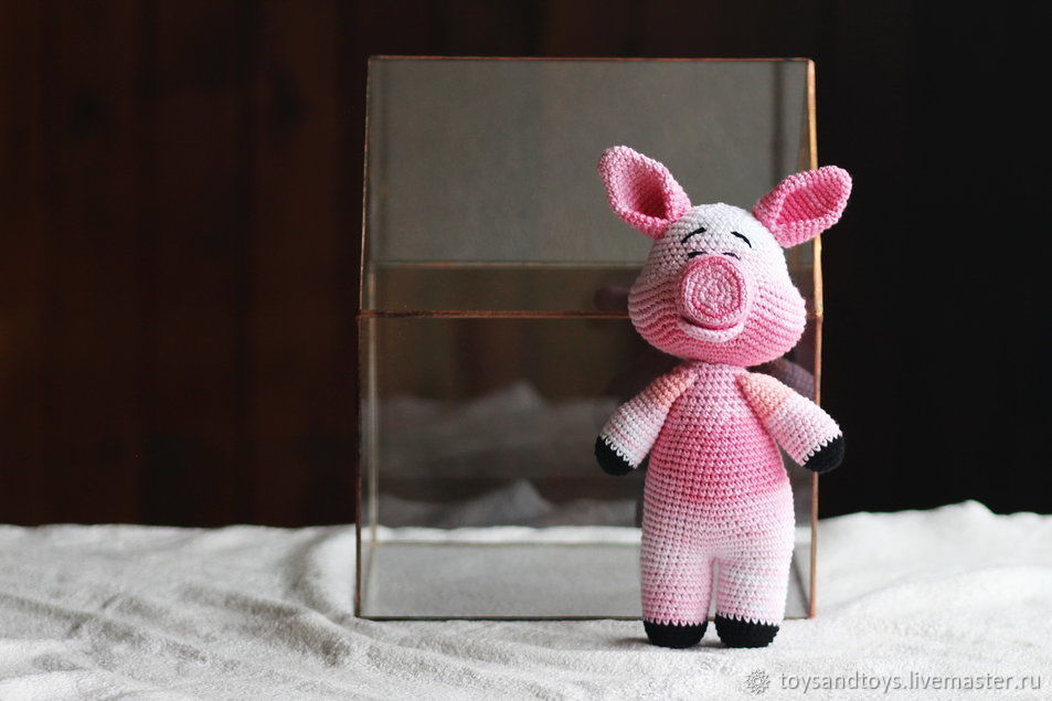 Animal Toys handmade. Livemaster - handmade. Buy Pink pig. Symbol 2019.Crochet, home decor, gift for girls