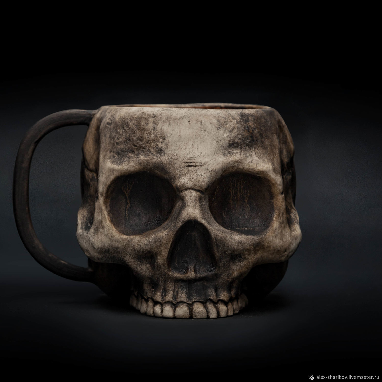 Skull mug (with firing effect) Skull Ceramic Mug, Mugs and cups, St. Petersburg,  Фото №1