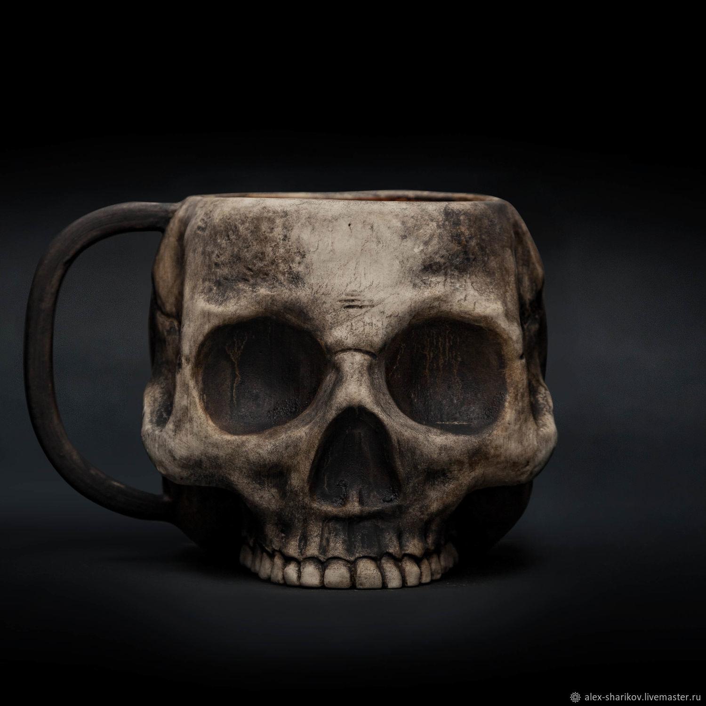 Кружка Череп (с эффектом обжига) Skull Ceramic Mug, Кружки и чашки, Санкт-Петербург,  Фото №1