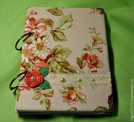"""Блокноты ручной работы. Ярмарка Мастеров - ручная работа. Купить Блокнот на кольцах """"Розы"""". Handmade. Розовый, блокнот с нуля"""