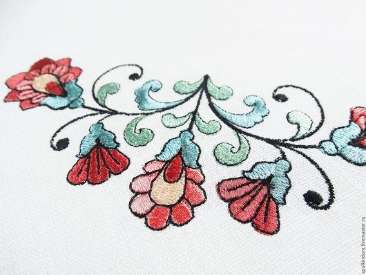 Салфетка с вышивкой  `Старая Англия` `Шпулькин дом` мастерская вышивки