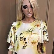 Одежда handmade. Livemaster - original item dress yellow silk