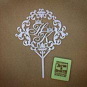 Свадебный салон ручной работы. Ярмарка Мастеров - ручная работа Топпер в свадебный торт. Handmade.