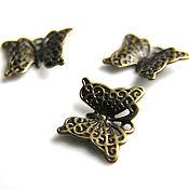 Материалы для творчества handmade. Livemaster - original item Filigree butterfly pendant bronze. Handmade.