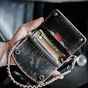 Сумки и аксессуары handmade. Livemaster - original item Wallet, Wallet on a leather cord.. Handmade.