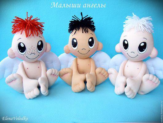 Куклы-младенцы и reborn ручной работы. Ярмарка Мастеров - ручная работа. Купить Малыши ангелы. Handmade. Чёрно-белый, ангелочек