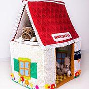 Куклы и игрушки handmade. Livemaster - original item Knitted house Teremok fully finished. Handmade.